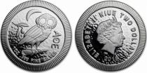 Niue island 2 Dollars - 1 Oz Owl Silver - 2018