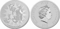 Niue island 2 Dollars Elizabeth II -  1 Oz Silver Mc Duck Disney 2018