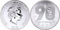 Niue island 2 Dollars Elizabeth II -  1 Oz Silver Mickey Disney 2018
