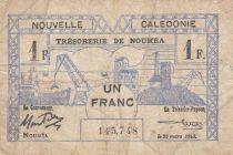 Nle Calédonie 1 Franc 1943 - Bon de caisse, mine de nickel, croix de Lorraine, Tête de cerf