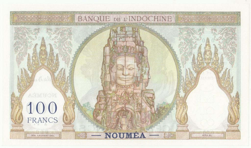 Nle Calédonie 100 Francs  Ruines d\'Angkor Spécimen - ND (1937)