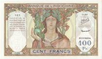 Nle Calédonie 100 Francs  Ruines d\'Angkor Spécimen - ND (1953)