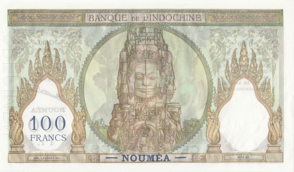 Nle Calédonie 100 Francs  Ruines d\'Angkor Spécimen n° 0140 - ND (1963)
