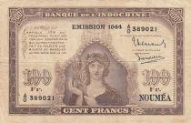 Nle Calédonie 100 Francs Minerve 1944 - Série AO