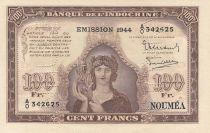 Nle Calédonie 100 Francs Minerve 1944 Spécimen - Neuf