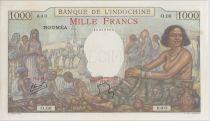 Nle Calédonie 1000 Francs ND1938 scène de marché - PCGS MS 64