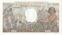 Nle Calédonie 1000 Francs scène de marché - ND (1963) Specimen