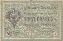 Nle Calédonie 20 Francs Etablissement de Nouméa - 01-09-1874 - TB - P.3