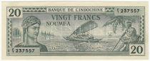 Nle Calédonie 20 Francs Impression australienne - 1944 - Annulé  - Neuf