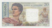 Nle Calédonie 20 Francs Jeune Berger - ND (1951) - Spécimen