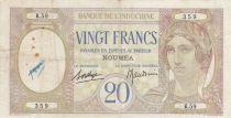 Nle Calédonie 20 Francs ND1929 - Tête de femme, paon