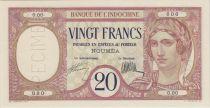 Nle Calédonie 20 Francs ND1929, Spécimen - PCGS MS 64