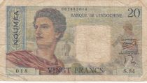 Nle Calédonie 20 Francs ND1958 - berger, femme, fruits