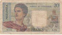 Nle Calédonie 20 Francs ND1958 - berger, femme, fruits