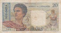 Nle Calédonie 20 Francs ND1963 - berger, femme, fruits