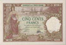 Nle Calédonie 500 Francs femme, bateaux 27-12-1927, Spécimen - PCGS MS 62