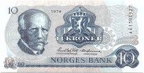 Norvège 10 Kroner, Fridtjof Nansen - Pêcheur - 1974 - SPL - P.36