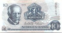 Norvège 10 Kroner, Fridtjof Nansen - Pêcheur - 1975 - TTB - P.36