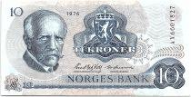 Norvège 10 Kroner, Fridtjof Nansen - Pêcheur - 1976 - TTB - P.36