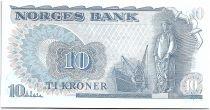 Norvège 10 Kroner, Fridtjof Nansen - Pêcheur - 1977 -  Neuf - P.36