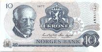 Norvège 10 Kroner, Fridtjof Nansen - Pêcheur - 1977 - SPL - P.36