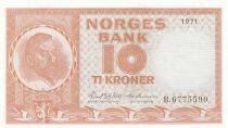 Norvège 10 Kroner Christian Michelsen - 1971 -p. Neuf - P.31 Série B
