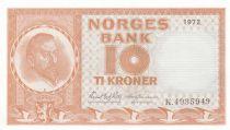 Norvège 10 Kroner Christian Michelsen - 1972 - Neuf - P.31 Série K