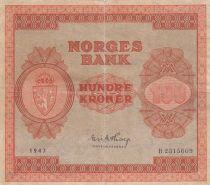 Norvège 100 Kroner 1947 - Série B.2315669 - p.TTB