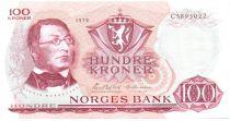 Norvège 100 Kroner 1976 - Henrik Wergeland