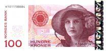 Norvège 100 Kroner Kristen Flagstad - Théâtre 2014 (2016)