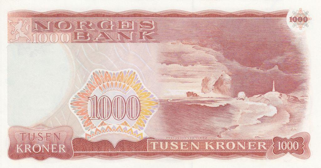 Norvège 1000 Kroner Henrik Ibsen - 1984