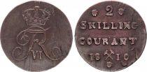 Norvège 2 Skilling Frédéric VI - 1810