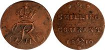 Norvège 2 Skilling Frédéric VI - Monogramme - 1810