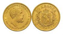 Norvège 20 Kroner Oscar II - 1902 - Or
