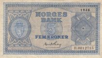 Norvège 5 Kroner 1948 - Série D.0012715