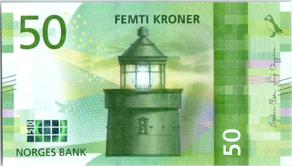 Norvège 50 Kroner Phare 2017 (2018)