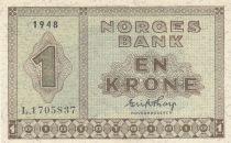 Norway 1 Krone 1948 - Serial L.1705837 - P.15
