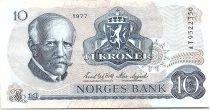 Norway 10 Kroner, Fridtjof Nansen - Fisherman - 1977 - TTB - P.36