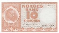 Norway 10 Kroner Christian Michelsen - 1971 - aUNC - P.31 Serial B