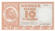 Norway 10 Kroner Christian Michelsen - 1972 - UNC - P.31 Serial K