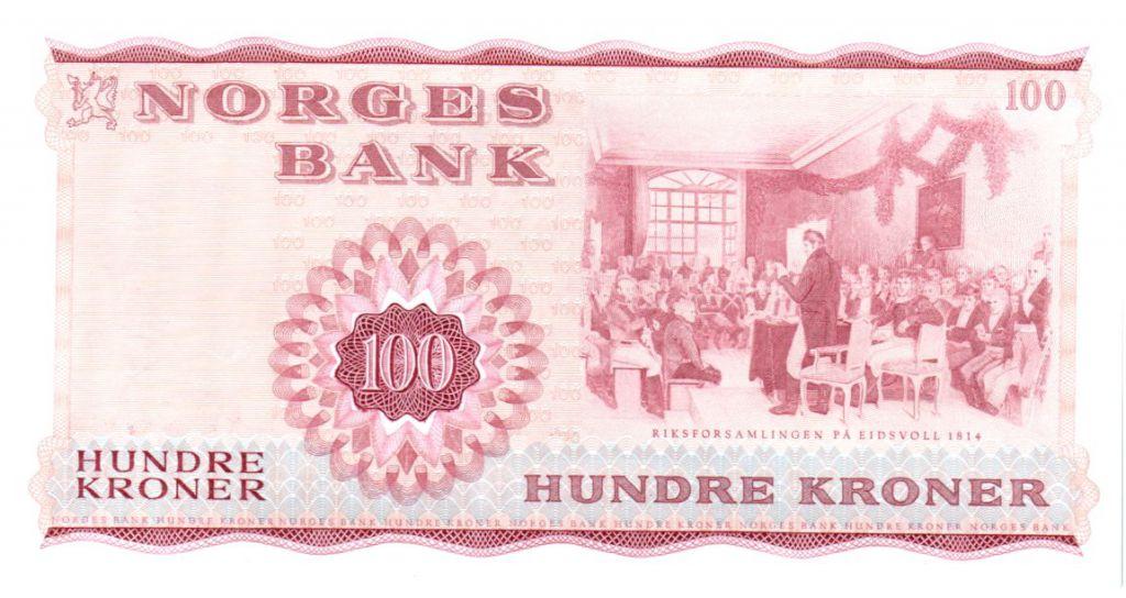 Norway 100 Kroner 1977 - Henrik Wergeland