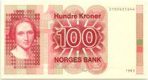 Norway 100 Kroner Cahilla Collett - 1983 - UNC P.43a