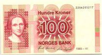 Norway 100 Kroner Cahilla Collett - 1985 - UNC P.43c