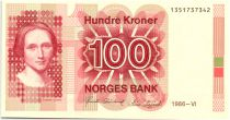 Norway 100 Kroner Cahilla Collett - 1986 - UNC P.43d
