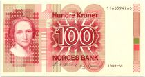 Norway 100 Kroner Cahilla Collett - 1989 - UNC P.43d