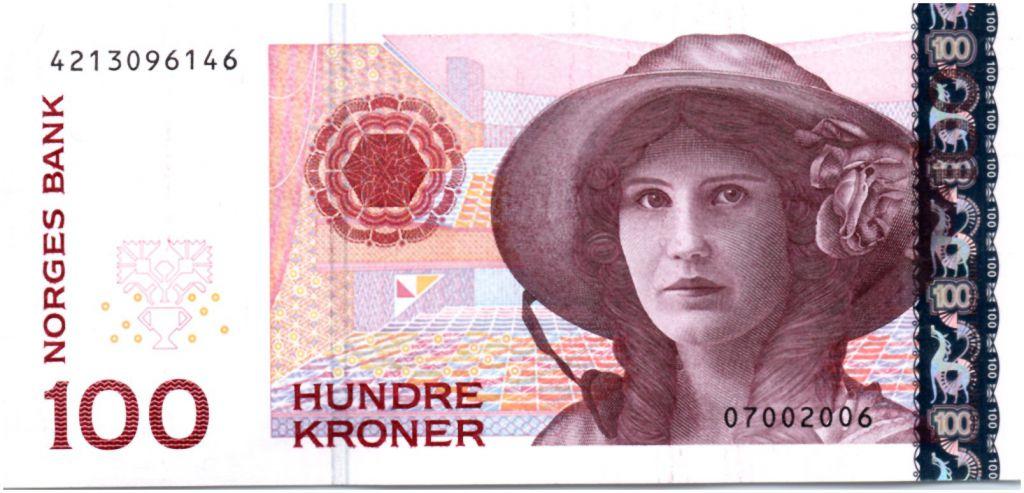 Norway Banknote P49c 100 Kroner 2006 UNC