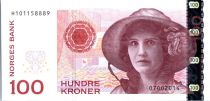 Norway 100 Kroner Kristen Flagstad - Theatre 2014 (2016)