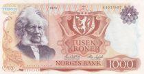 Norvège 1000 Kroner Henrik Ibsen - 1978