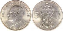 Norway 5 Kroner King Olaf - 1964