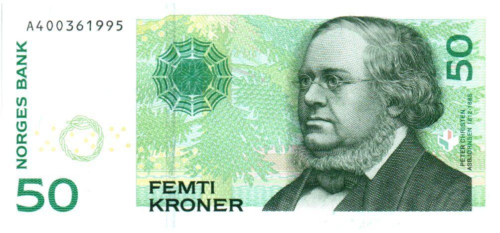 Norway 50 Kroner 2008 - Peter Christen Asbjørnsen